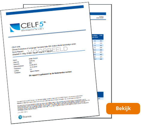 CELF-5-NL Scorerapport